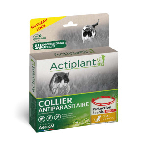 ACTIPLANT COLLIER ROUGE CHAT 35CM