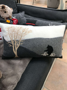 SNOWING COUSSIN 30X50CM ANTHRACITE